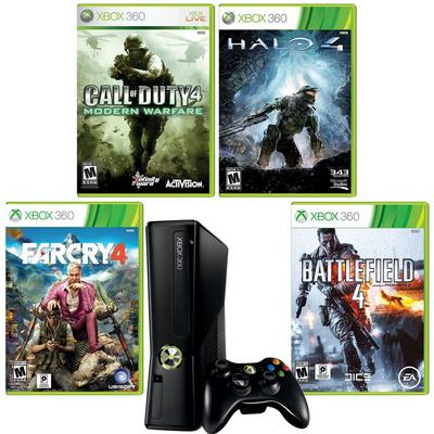 Xbox 360 4 for 4 Blast from the Past Preowned System Bundle