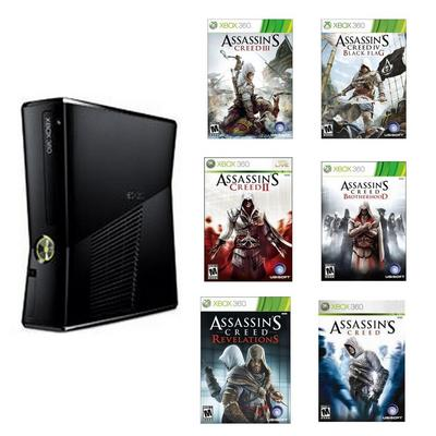 Xbox 360 Assassin's Creed Collection Blast from the Past Preowned System Bundle