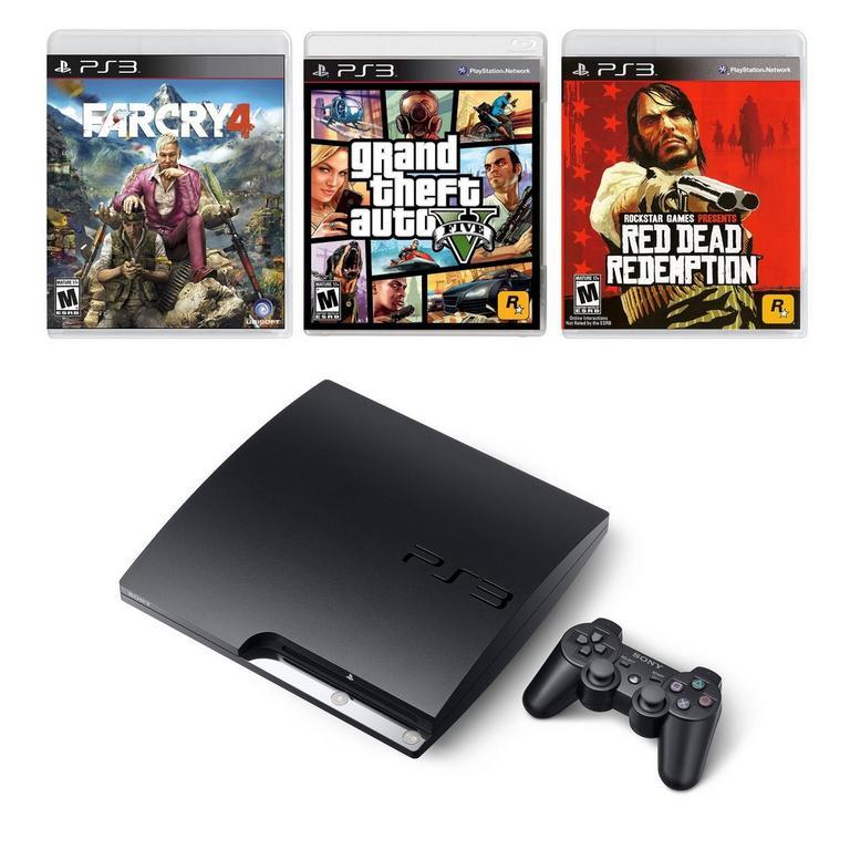 PlayStation 3 Open World Blast from the Past GameStop Premium Refurbished System Bundle