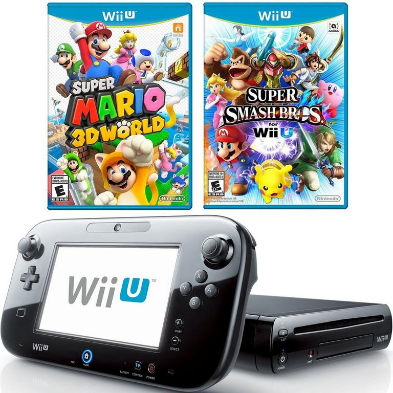 Nintendo Wii U 32 GB Blast from the Past Must Play GameStop Premium Refurbished System Bundle