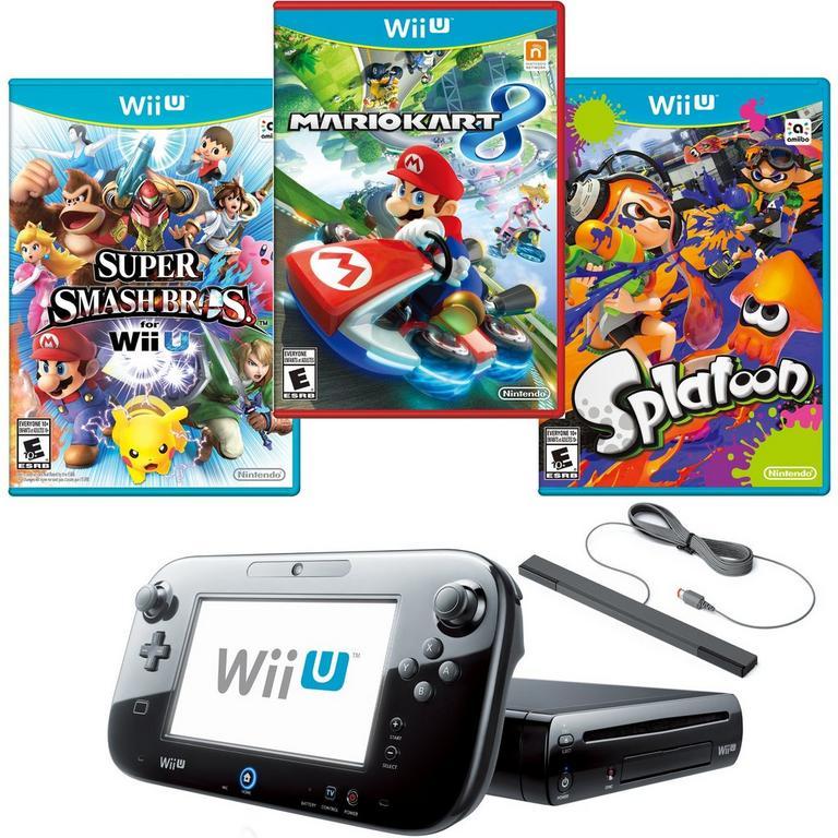 Nintendo Wii U 32 GB Ultimate Multiplayer Blast from the Past GameStop Premium Refurbished System Bundle