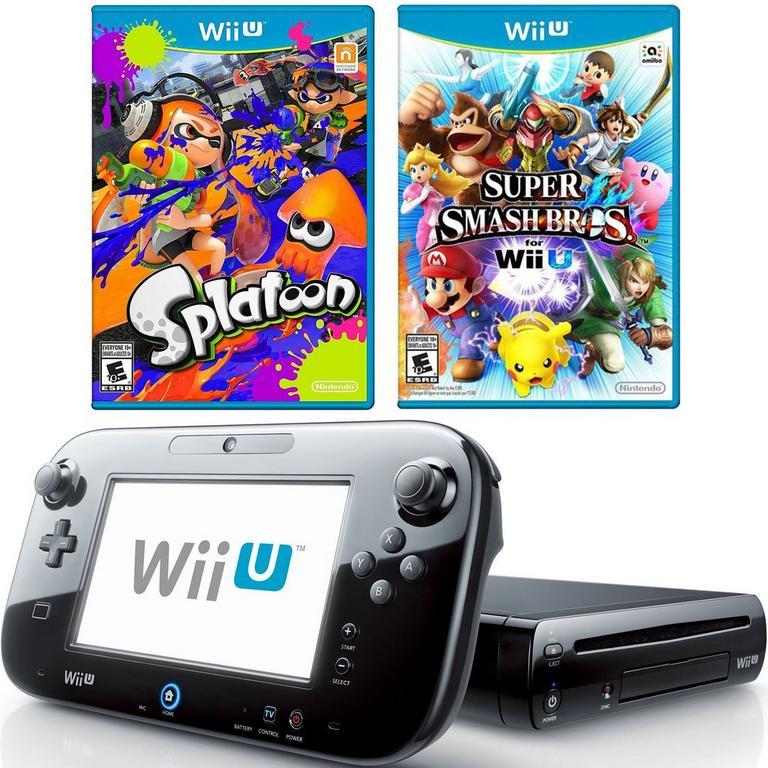 Nintendo Wii U Smash and Splat Blast from the Past GameStop Premium Refurbished System Bundle
