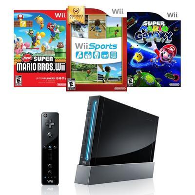 Nintendo Wii Remote Plus Essentials Blast from the Past System Bundle (GameStop Premium Refurbished)