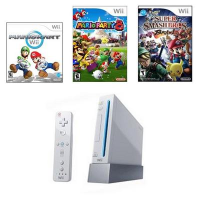 Nintendo Wii Competitive Blast from the Past GameStop Premium Refurbished System Bundle