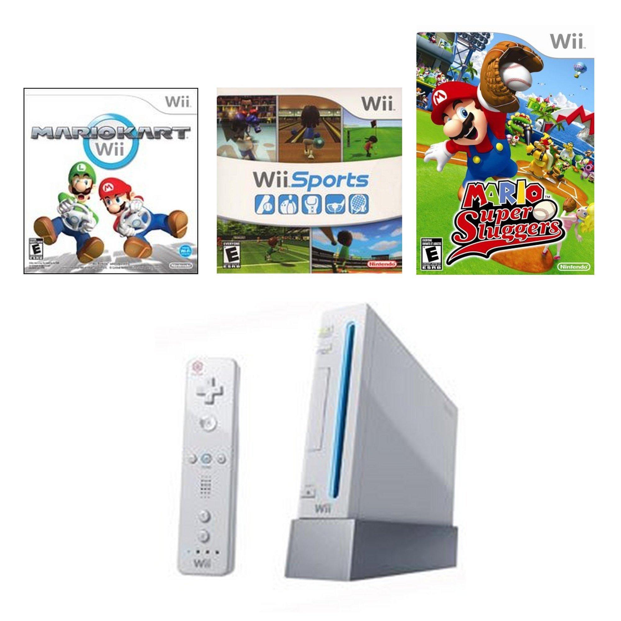 Nintendo Wii Sports Collection Blast From The Past Gamestop Premium Refurbished System Bundle Nintendo Wii Gamestop