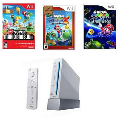 Nintendo Wii Best of Mario Blast from the Past GameStop Premium Refurbished System Bundle