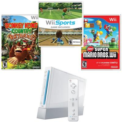 Nintendo Wii Critics Choice Blast from the Past GameStop Premium Refurbished System Bundle