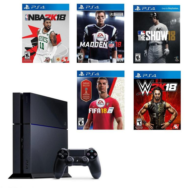 PlayStation 4 Sports Collection Blast from the Past Preowned System Bundle PS4 Available At GameStop Now!