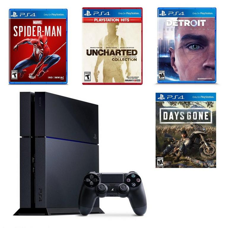 PlayStation 4 Exclusives Blast from the Past Preowned System Bundle PS4 Available At GameStop Now!