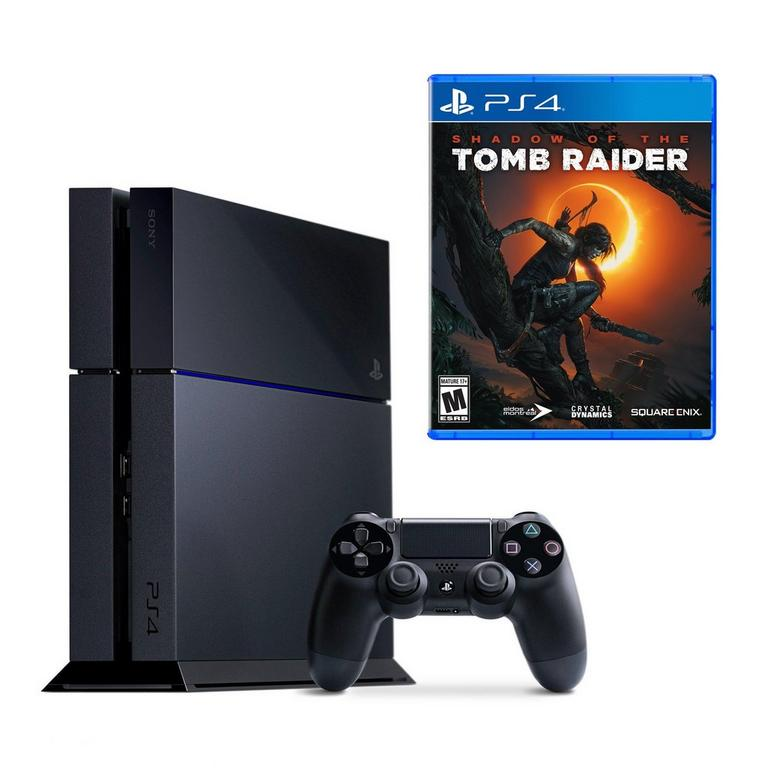 PlayStation 4 and Shadow of the Tomb Raider System Bundle (GameStop Premium Refurbished)