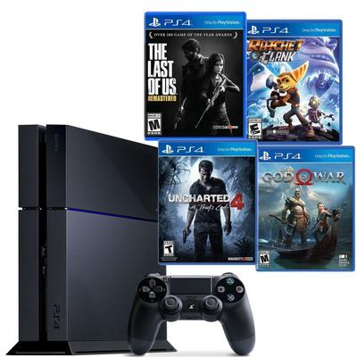 PlayStation 4 Essentials Blast from the Past GameStop Premium Refurbished System Bundle