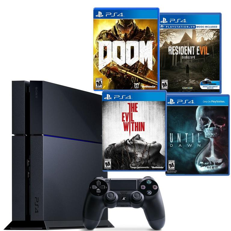 PlayStation 4 Horror Blast from the Past GameStop Premium Refurbished System Bundle