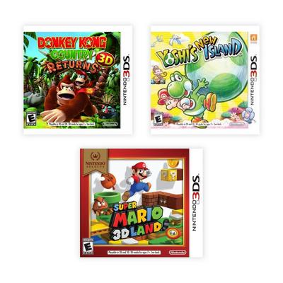 Nintendo 3DS First Party Platformers Blast from the Past Preowned Software Bundle
