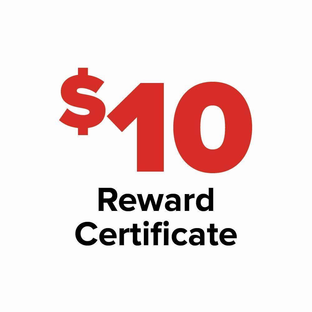 $10 Reward Certificate