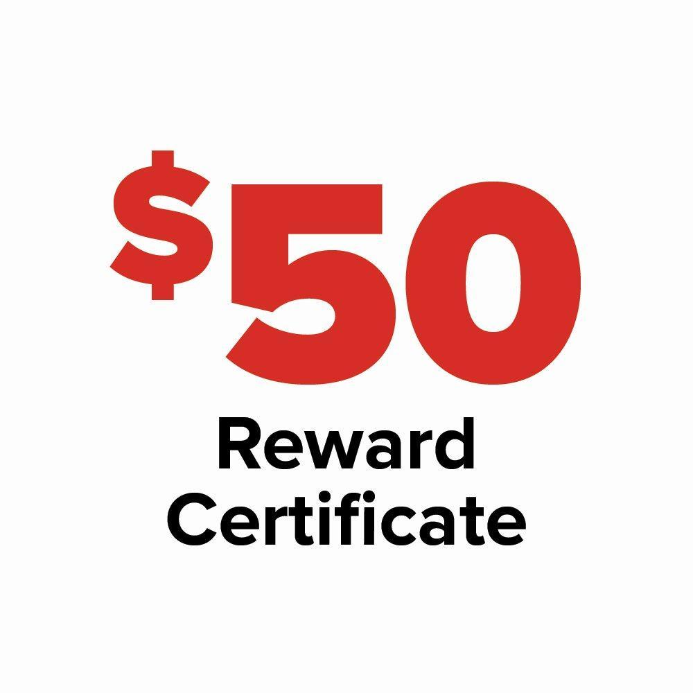 $50 Reward Certificate