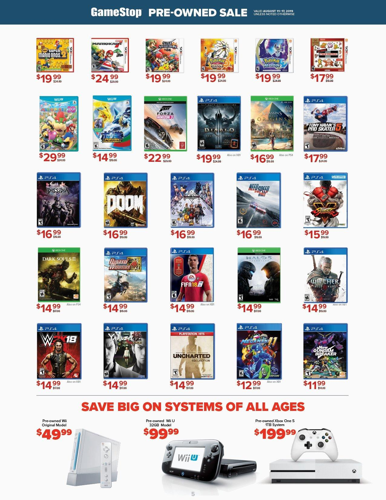 WeeklyAd 8 11 19 | GameStop