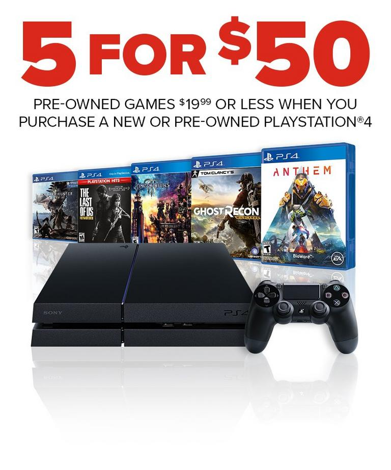 Pre-Owned Games Offer