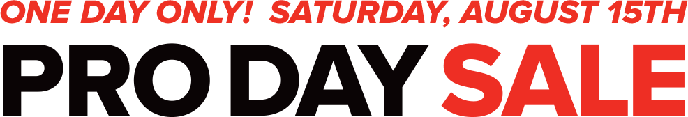 Pro Day Sale Logo